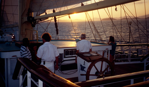 Sunset from Royal Clipper