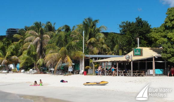 The beach and bar at Anguilla