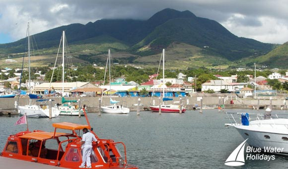 The tender awaits at St Kitts